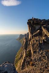 At the top of Segla! (bholmbom81) Tags: cliffscloudhighhumanmountainscenerynorwayseaseglasenja cliffs cloud high human mountainscenery norway sea segla senja water
