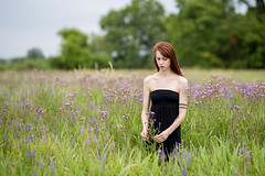 Meadow nymph (piotr_szymanek) Tags: mariola mariolam woman young skinny face portrait outdoor redhead longhair tatoo piercing meadow nobra eyebrowpiercing claviclepiercing 1k 20f 50f 5k 10k 100f 20k