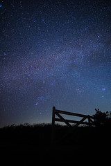 Gate to the Stars (cpiktures) Tags: gate field sky nightsky night milky way star stars nebula sony sonyalpha sonyalpha6000 samyang 12mm outdoor cornwall england uk nature universe astro astrophotography astronomy constellation earth pleiades orion longexposure exposure long silhouette landscape greatbritain atmosphere