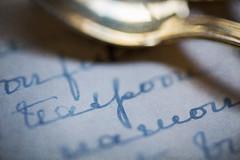 Teaspooning (alideniese) Tags: macromondays printedword stilllife macro recipe alideniese