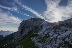 Let's call it a day (tom.leuzi) Tags: alpen alps berge ch canonef1635mmf4lisusm canoneos6d schweiz sonnenuntergang suisse switzerland mountains starburst sunset zwinglipass zwinglipasshütte alpstein sac