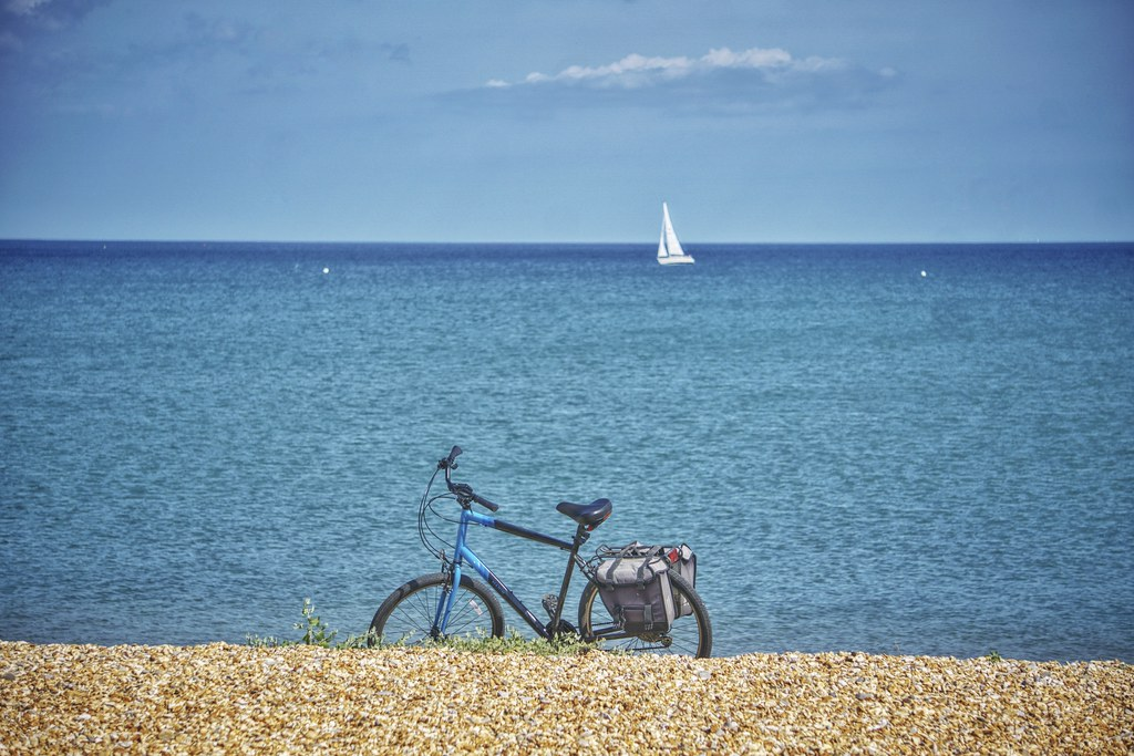 Beach, Bike, Boat