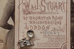 Those were the days (Macro Mondays - Printed Word) (hehaden) Tags: victorian camera miniature metal macro macromondays printedword photo vintage