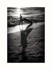 Surfer Silhouette (oiZox) Tags: kuta ball indonesia asia blackandwhite blancoynegro bnwdemands bnwphoto bnwphotography bn bw bnw monochrome