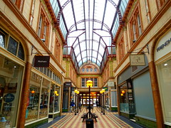 Inside Miller Arcade, Preston (Tony Worrall) Tags: architecture building interior quaint shops lamps windows canopy glass empty millerarcade victorian preston lancs lancashire city welovethenorth nw northwest north update place location uk england visit area attraction open stream tour country item greatbritain britain english british gb capture buy stock sell sale outside outdoors caught photo shoot shot picture captured ilobsterit instragram photosofpreston