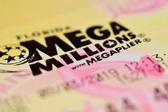 Mega Millions (Zoom Lens) Tags: macromondays printedword text micro macro lotteryplayslip