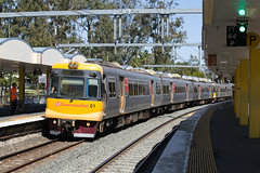 Calling At Indooroopilly (jamesmp) Tags: queenslandrail queenslandgovernmentrailways qrcitytrain walkersltd asea emufarewelltour electricmultipleunit electrictrain localtrain passengertrain emu01 emu04 train railway travel emudisposalproject queensland australia indooroopilly