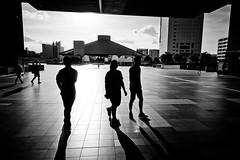 (Camera Freak) Tags: 190812ryogokud810tokyoryogoku2019augustnikond810 edomuseum evening sunset three people shadows buildings architecture ryogoku tokyo japan nikon d810 tiles concrete modern