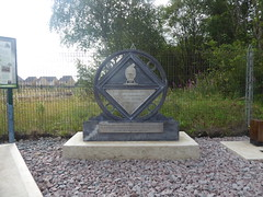 Steelworkers memorial sculpture, Penistone station.   August 2019 (dave_attrill) Tags: steelworkersmemorial ballast trackbed penistone railway station entrance remains disused greatcentral gc gcr electrified mainline passenger goods woodhead woodheadroute beechingcuts sheffieldtomanchester closed1970 barnsley sheffield southyorkshire yorkshire august 2019