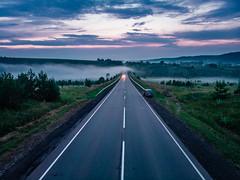 Нечкино (nbannikov) Tags: aerialshot izhevsk nature sunset russia drone dji mavic air road countryside highway дорога ижевск удмуртия закат природа туман mist