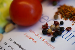 Cooking with Printed Words and other ingredients,... (Wim van Bezouw) Tags: macromondays printedword sony ilce7m2 cooking book print printing
