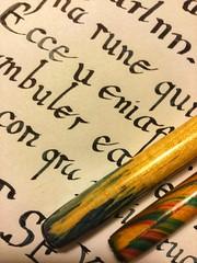 Tinta y papel (labrochina) Tags: printedword macromondays calligraphy caligrafia handwritten escritoamano