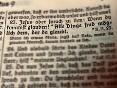 Alle Dinge sind möglich, dem der da glaubt. Markus 9.23 (Frau D. aus D.) Tags: bible fraktur bibel buchstaben wörter macromondays printedwords taufspruch markusevangelium baptism christening