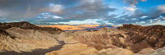 Partial Zabriskie Rainbow (Kurt Lawson) Tags: badlands california clouds death desert morning mountains national panamint panorama park point rainbow range sunrise valley zabriskie