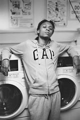 Last Cult Records (_vol.1) Tags: portrait film analog black white gap laundry laundromat grey sweats minolta ilford