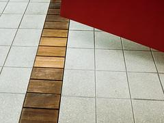 Tiles (Poul-Werner) Tags: portra160 danmark denmark kystcenter thy thyborøn x100f contemplative door dør everydayart family feriebørn floor geometry gulv minimalism pattern centraldenmarkregion