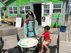 Ezra and a Pirate (brownpau) Tags: iphonex canada novascotia halifax easternpassage fishermanscove ezra ezraordo pirate