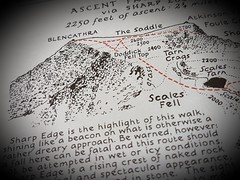 Blencathra-Macro Monday (katy1279) Tags: macromondays printedword wainwrightblencathralakedistrictlakelandfells