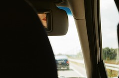 Lips (pgndck) Tags: car lips lipstick drive ride film mirror reflection