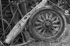 Discarded Wheel (jpeder55) Tags: 2019 landscapephotography palouse washington xt3 antique fuji fujifilm johnpedersenphoto june landscape nature old rust wagonwheel wheat wheel