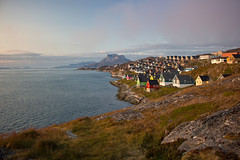 Nuuk, Greenland, Denmark, North America (Miraisabellaphotography) Tags: nuuk greenland northamerica denmark nature travel adventure travelling mosquitovally buildings houses mountain mountains hills sermitsiaq