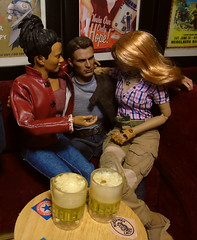 Having fun! (Blondeactionman) Tags: bamhq ammo arms pub diorama one six scale playscale dam toys zone agent of bam martha jones doctor who hottoys steve rogers doll photography