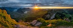 After'Rain'comes'Sun (PhiiiiiiiL) Tags: schwyz kantonschwyz schweiz grosser mythen sunset panorama sonnenuntergang hiking wanderung regen wolken clouds rain sun sonne sonnenstern switzerland nikon d850