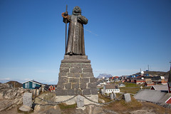 Nuuk, Greenland, Denmark, North America (Miraisabellaphotography) Tags: nuuk greenland northamerica denmark nature travel adventure travelling statue colonialharbour houses city