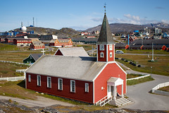 Nuuk, Greenland, Denmark, North America (Miraisabellaphotography) Tags: nuuk greenland northamerica denmark nature travel adventure travelling church houses city mountains hills