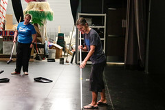 Painting the Stage (The New School AR) Tags: painting stage jonny samanthe burrow schremmer teachers drama andrea romine