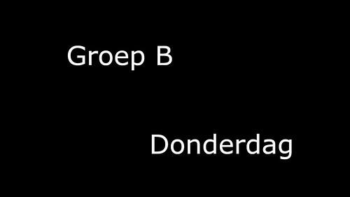 Groep_B_Donderdag