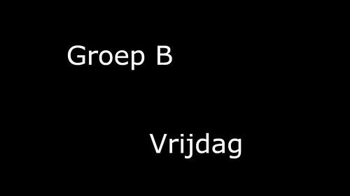 Groep_B_Vrijdag