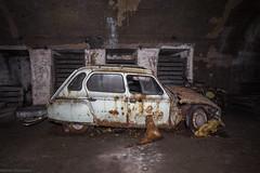 Showroom (The Urban Tourist) Tags: urbex urbanexploration abandoned abandonedplaces abandonedcars abandonedairraidshelter airraidshelter citroën