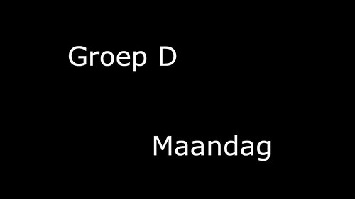 Groep_D_Maandag