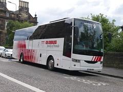 Edinburgh Coach Lines Van Hool EX15H YJ18AYB, in Globus Tours livery, at Johnston Terrace, Edinburgh, on 1 July 2019. (Robin Dickson 1) Tags: globustours edinburghcoachlines busesedinburgh vanhoolex15h tj18ayb