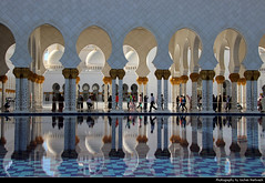 Sheikh Zayed Grand Mosque, Abu Dhabi, UAE (JH_1982) Tags: sheikh zayed grand mosque جامع الشيخ زايد الكبير scheich zayid moschee mezquita mosquée cheikh 謝赫扎耶德大清真寺 シェイク・ザーイド・モスク 셰이크 자이드 모스크 мечеть шейха зайда marble architecture architektur pool water reflection reflections columns courtyard landmark building marmor islam muslim religion religious sunni abu dhabi أبوظبي abou dabi 阿布扎比 アブダビ市 아부다비 абудаби united arab emirates uae vereinigte arabische emirate vae الإمارات العربيّة المتّحدة emiratos árabes unidos eau émirats arabes unis 阿拉伯联合酋长国 アラブ首長国連邦 아랍에미리트 объединённые арабские эмираты оаэ