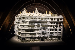 Model of La Pedrera (henriksundholm.com) Tags: model building architecture casamila lapedrera antonigaudi gaudi vignette arch shadows facade hdr barcelona spain espana catalonia