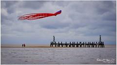 War of the Worlds? (chromaphoto uk) Tags: kite stannes kitefestival beach seaside sea pier ruin octopus beachcombing landscape seascape lancashire