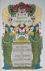 Das Büchlein Immergrün (pe_ha45) Tags: macromondays theprintedword dasbüchleinimmergrün heinrichvogeler book buch jugendstil