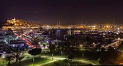 Fiestas de Ibiza 2019... (elpitiuso) Tags: ibiza nightlandscape night city colours lights balearic longexposure noche urban