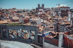 Hazul + City (dogslobber) Tags: green portugal porto europe travel adventure explore hazul graffiti street art
