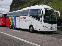 Weardale Coaches of Stanhope Irizar i6 Integral YT19KUY, with Trafalgar Tours vinyls, at Johnston Terrace, Edinburgh, on 1 July 2019. (Robin Dickson 1) Tags: busesedinburgh weardaleofstanhope irizari6integral yt19kuy trafalgartours