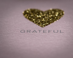 HMM ♥ (HW111) Tags: macromondays bokeh card hearts macro words printedword hmm grateful