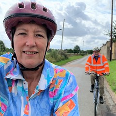 224 2019 cycling home from Fairford (Margaret Stranks) Tags: 224365 365days 2019 cycling bike helmet hiviz