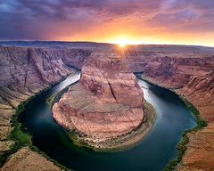 Horseshoe Bend Sunset (Nate Yolles) Tags: horseshoebend page arizona southwest grandcanyon coloradoriver sunset canon 80d 1018mm longexposure usa river redrock