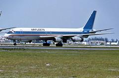 Douglas DC-8-31 N905CL Airfleets International (EI-DTG) Tags: kmia miamiairport miamiinternational 17jun1980 dc8 douglasdc8 fourholer n905cl airfleets capitol