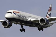British Airways 787-9 G-ZBKR at London Heathrow LHR/EGLL (dan89876) Tags: british airways boeing 787 dreamliner b789 7879 gzbkr london heathrow international airport landing runway 27r lhr egll myrtle avenue