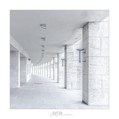 "Experiment in ""HighKey"" (mmsig) Tags: architektur architecture olympiastadion highkey white arcade berlin 2018 canoneos wernermarch sportstätte fassade light licht hell weiss"