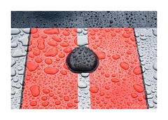 Auto Abstract (PeteZab) Tags: rain drops pattern abstract carline red silver fordshelby peterzabulis