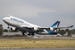 F-HSUN Boeing 747-400 Corsair Orly airport LFPO 12.08-19 (rjonsen) Tags: plane airplane aircraft aviation airliner takeoff departure liftoff rotation jumbojet queen skies